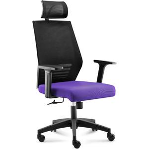 Кресло офисное NORDEN Престиж black/ черный пластик/черная скетка/фиолетовая ткань кресло офисное norden престиж black черный пластик черная сетка оранжевая ткань
