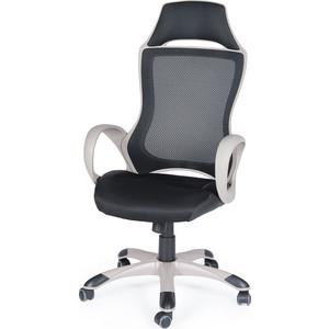 Кресло офисное NORDEN Реноме grey темно-серый пластик/черная ткань/черная сетка