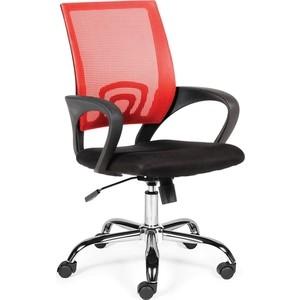 цена Кресло офисное NORDEN Спринг red-black база хром/красная сетка/черная ткань онлайн в 2017 году