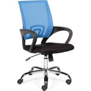 цены на Кресло офисное NORDEN Спринг blue-black база хром/синяя сетка/черная ткань  в интернет-магазинах