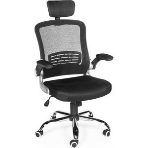 Кресло офисное NORDEN Флекса черная ткань/черная сетка