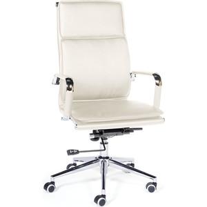 Кресло офисное NORDEN Харман ivory хром/слоновая кость экокожа