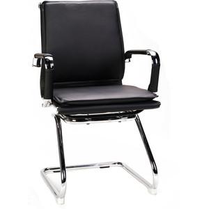 Кресло офисное NORDEN Харман CF/ (black) хром/черная экокожа