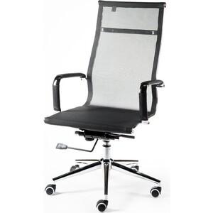 Кресло офисное NORDEN Хельмут black сталь + хром/черная сетка офисное кресло profoffice skin сетка кожа белый черный хром сетка кожа полозья