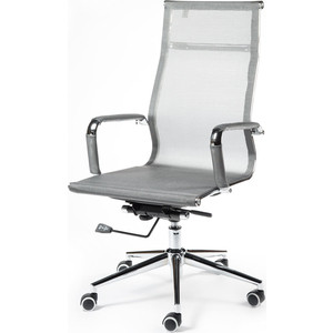 Кресло офисное NORDEN Хельмут grey сталь + хром/серебристая сетка