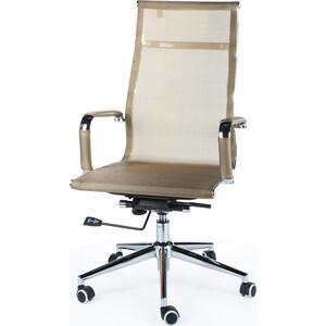 Кресло офисное NORDEN Хельмут bronze сталь + хром/бронзовая сетка офисное кресло profoffice skin сетка кожа белый черный хром сетка кожа полозья