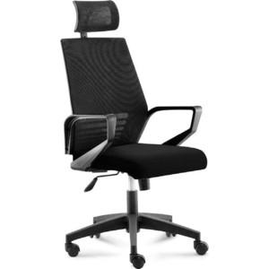 Кресло офисное NORDEN Эрго black/ черный пластик/черная сетка/черная ткань