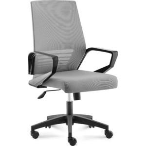 Кресло офисное NORDEN Эрго black LB/ черный пластик/серая сетка/серая ткань (низкая спинка) цена