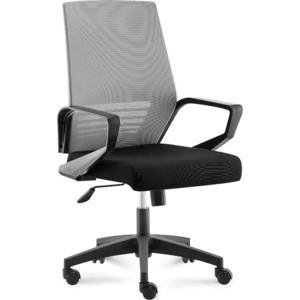 Кресло офисное NORDEN Эрго black LB/ черный пластик/серая сетка/черная ткань (черная ткань) цена