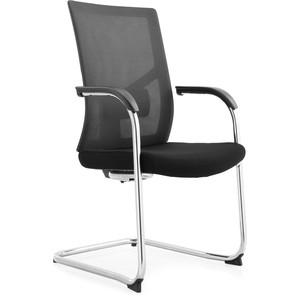 Кресло офисное NORDEN Сильвия black CF/ хром/черная ткань