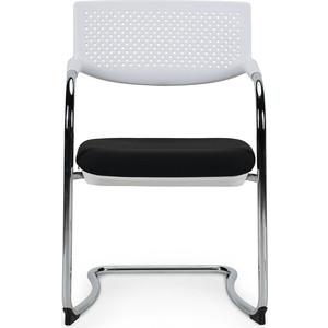 Кресло офисное NORDEN Самба white CF/ хром/пластик белый/ткань черная