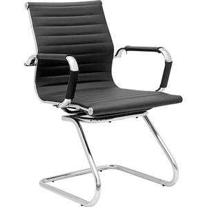 Кресло офисное NORDEN Техно CF/ хром/черная экокожа