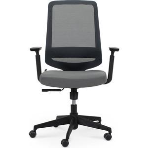Кресло офисное NORDEN Лондон офис LB/ черный пластик/серая сетка/серая ткань