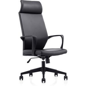 Кресло офисное NORDEN Союз LB/ черный пластик/черная экокожа кресло офисное norden шелби серый пластик черная экокожа оранжевая строчка