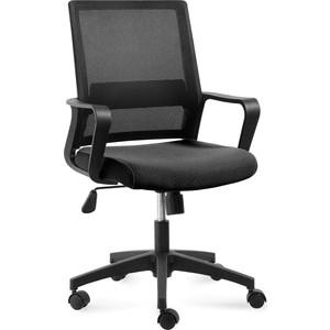 Кресло офисное NORDEN Бит черный пластик/черная сетка/черная ткань