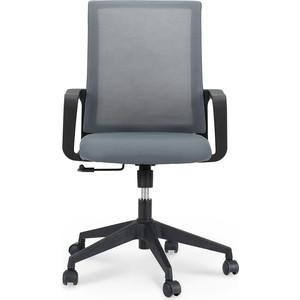 Кресло офисное NORDEN Стронг LB/ черный пластик/серая сетка/серая ткань офисное кресло profoffice urban mesh пластик ткань черный хром сетка кожа 4 опоры