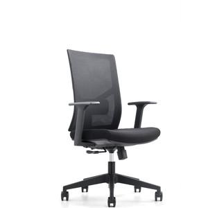 Кресло офисное NORDEN Сильвия LB/ черный пластик/черная сетка/черная ткань фото