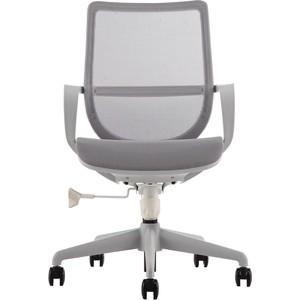 Кресло офисное NORDEN Гэлакси gray LB/ серый пластик/серая сетка/серая ткань фото