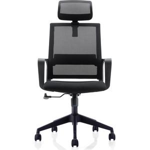Кресло офисное NORDEN Практик черный пластик/черная сетка/черная ткань офисное кресло profoffice urban mesh пластик ткань черный хром сетка кожа 4 опоры