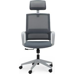 Кресло офисное NORDEN Практик grey/ серый пластик/серая сетка/серая ткань фото