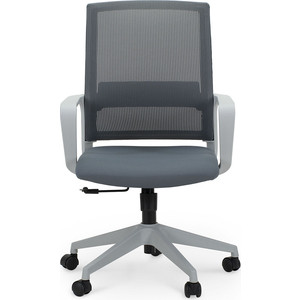 Кресло офисное NORDEN Практик grey LB/ серый пластик/серая сетка/серая ткань фото