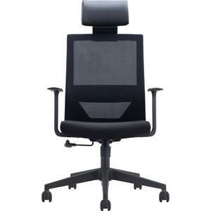 Кресло офисное NORDEN Трэнд черный пластик/черная сетка/черная ткань