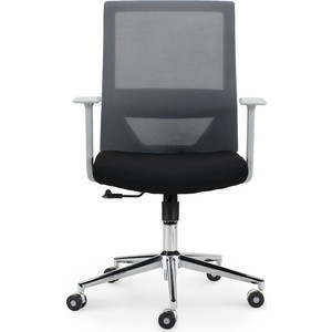 Кресло офисное NORDEN Трэнд grey LB/ серый пластик/серая сетка/черная ткань