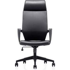 Кресло офисное NORDEN Союз/черный пластик/черная экокожа кресло офисное norden шелби серый пластик черная экокожа оранжевая строчка