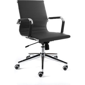Кресло офисное NORDEN Техно LB/ хром/черная экокожа