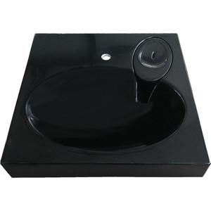 Раковина над стиральной машиной Эстет Lea 60x60 RAL 9005 черная, с кронштейнами (2044000011510)