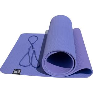 Коврик Original FitTools для йоги 6 мм двуслойный TPE фиолетово-сиреневый