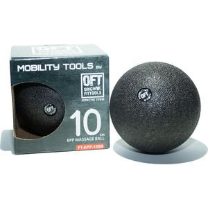 Мяч массажный Original FitTools одинарный 10 см черный