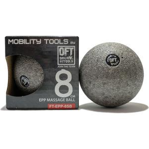 Мяч массажный Original FitTools одинарный 8 см серый цилиндр original fittools массажный 45х12 7 см черный