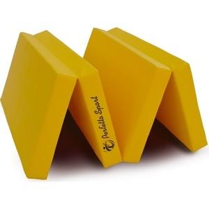 Мат PERFETTO SPORT № 5 (100 х 200 10) складной 3 сложения желтый