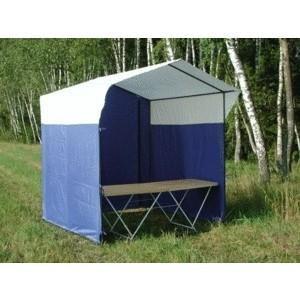 Палатка торговая Митек Домик 1,5х1,5 (разборная)(зеленый/желтый)