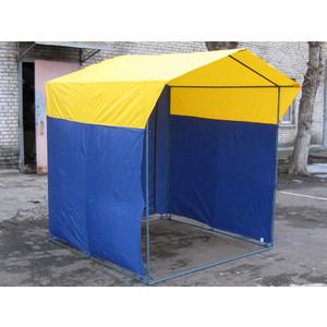 Палатка торговая Митек Домик 1,9х1,9 (разборная)(синий/желтый)