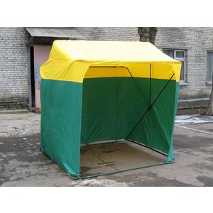 Палатка торговая Митек 2,0х2,0 P (кабриолет) (Зеленый/Желтый) шторы рулонные ролло идея рулонная штора ролло lux samba цветы зеленый оранжевый желтый 160 см
