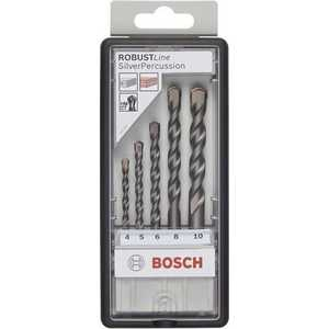 Набор сверл по бетону Bosch 4.0-10.0мм 5шт Silver Percussion (2.607.010.524) bosch robust line silver percussion 2607010524