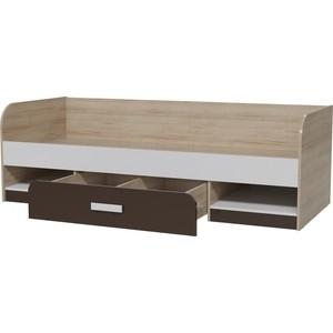 Кровать односпальная с ящиком Гранд Кволити Арабика 4-2007 дуб ривьера/белый/коричневый