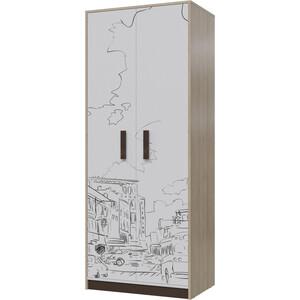 Шкаф для одежды Гранд Кволити Арабика 6-9433 дуб ривьера/белый/коричневый