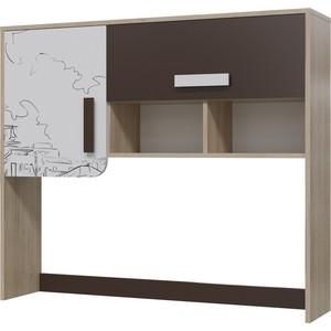 Шкаф настольный Гранд Кволити Арабика 6-9435 дуб ривьера/белый/коричневый