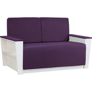Диван Шарм-Дизайн Бруно 2 рогожка фиолетовый
