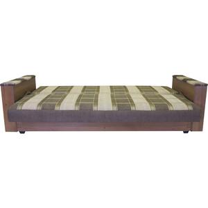 Диван-кровать Шарм-Дизайн Бруно шенилл коричневый