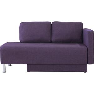 Кушетка Шарм-Дизайн Леон правый фиолетовый