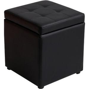 Пуф Шарм-Дизайн Евро с ящиком экокожа черный