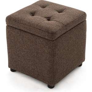 Пуф Шарм-Дизайн Евро с ящиком рогожка коричневый пуфик с ящиком для хранения тематика складной рогожка коричневый