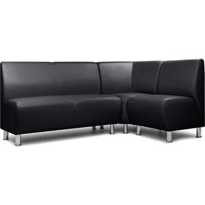 Модульный диван Шарм-Дизайн Гамма-1 черный