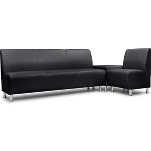 Модульный диван Шарм-Дизайн Гамма-2 черный