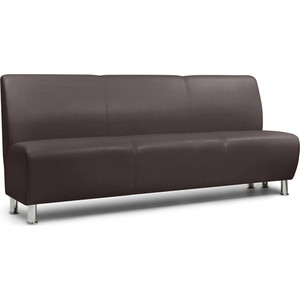 Модульный диван Шарм-Дизайн Гамма коричневый 3-х местный