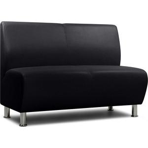 Модульный диван Шарм-Дизайн Гамма черный 2-х местный